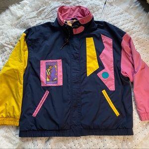 ISPO reversible ski jacket 80's/ 90's Block Colour